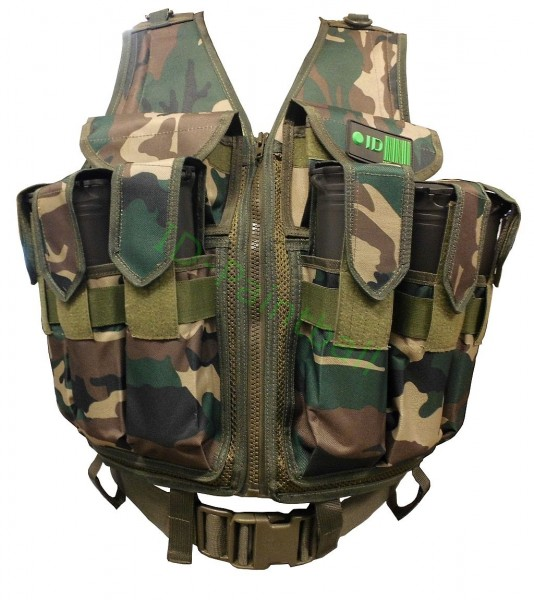 Paintball Tactical Vest 9 Pods HP Magfed Woodland