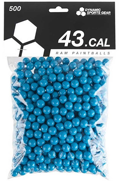 DSG RAM Paintballs cal.43 500 Stück Blau