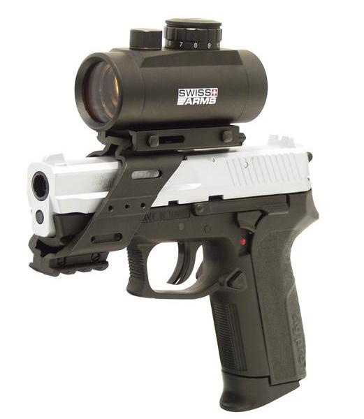 Universal Pistolenmontage mit Railschiene