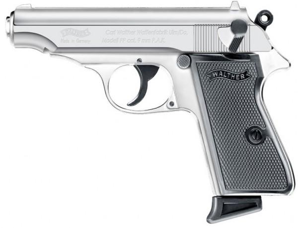 Walther PP cal. 9 mm P.A.K. - Polish Chrome