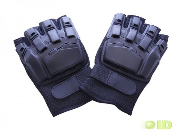 Halbfingerhandschuhe mit Protectoren Schwarz