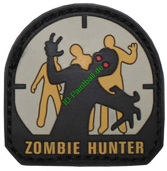 "Klettabzeichen, 3D, Patch ""Zombie Hunter"""