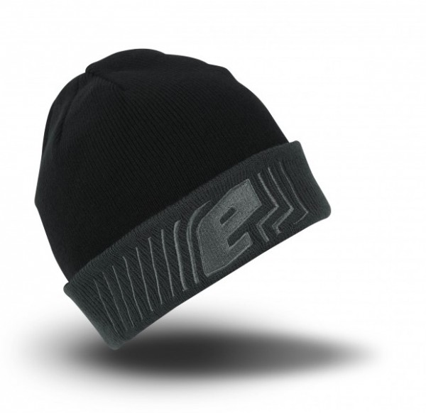 Planet Flux Rollup Beanie schwarz / grau Mütze
