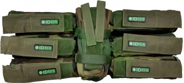 Battlepack 6+1 HP Woodland Camouflage 4 Fach verstellbar