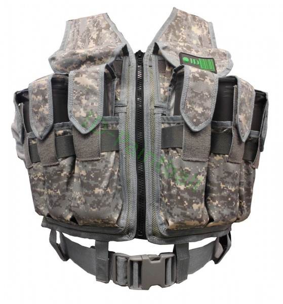 Paintball Tactical Vest 9 Pods HP Magfed ACU Camo