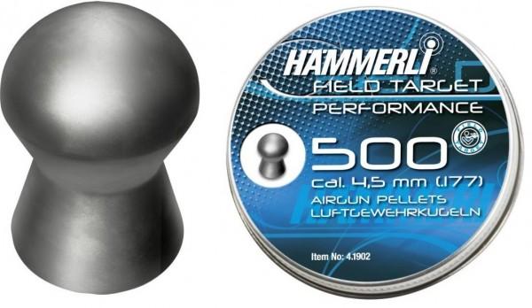 500 Stück Hämmerli FT Performance Rundkopf Diabolo 0,56g 4,5mm