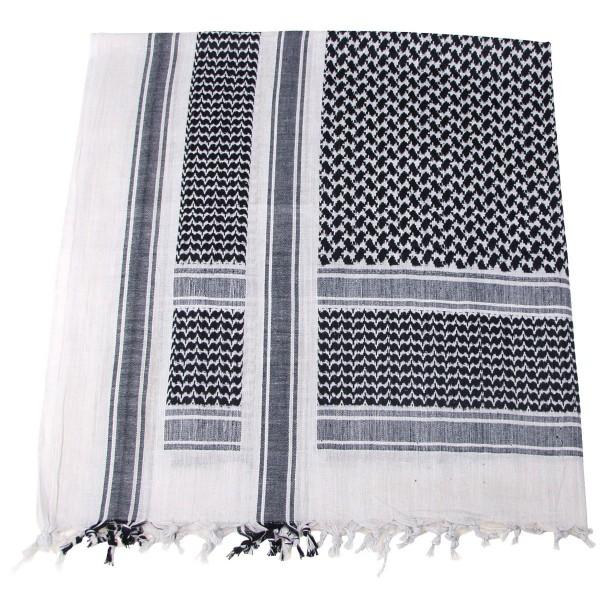 Shemag PLO Tuch mit Fransen schwarz-weiß Gr. ca. 115x110cm