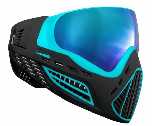 Paintball Maske Virtue VIO Ascend Aqua Ice schwarz / türkis