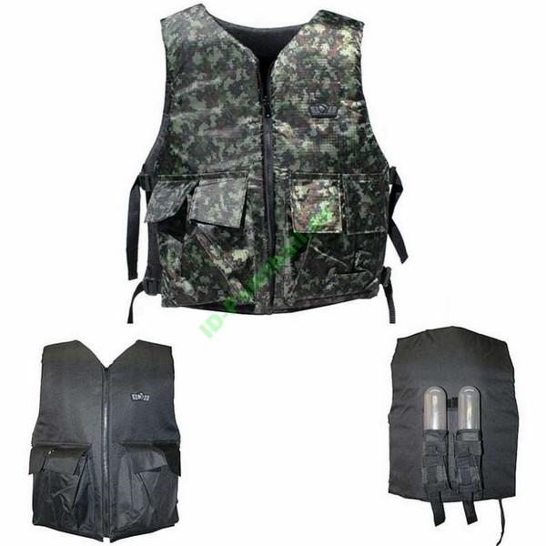 GXG Paintball Wendeweste / Brustpanzer schwarz oder digi woodland camo inkl. Battle Pack