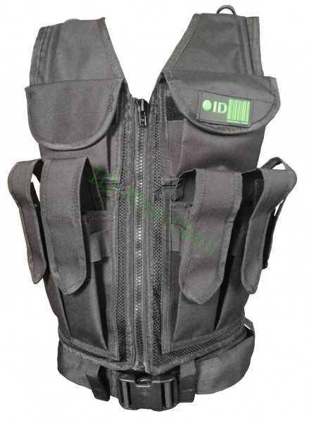 Paintball Tactical Vest 9 Pots HP Magfed Black