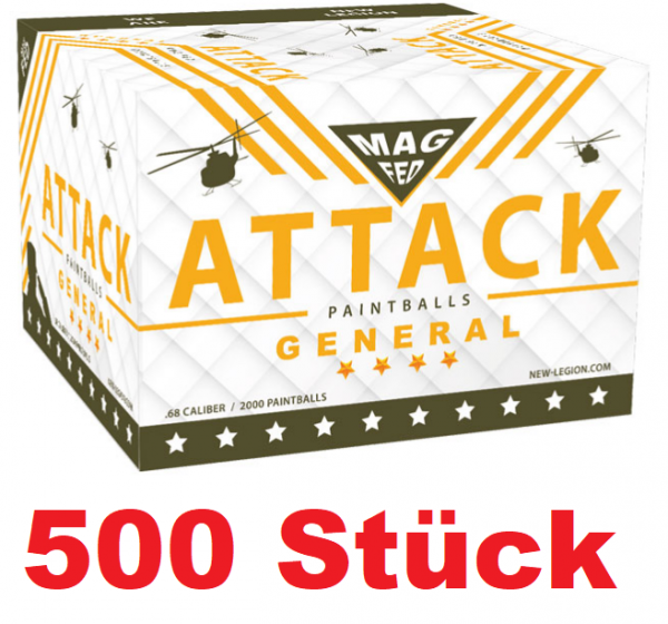 500 New Legion Attack General Magfed Paintballs stripe 1 Beutel