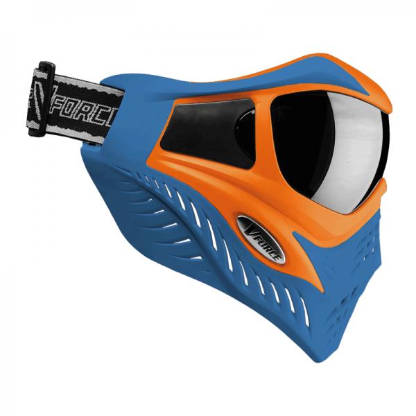 VForce Grill Paintball Thermal Maske Limited - Orange on Blue