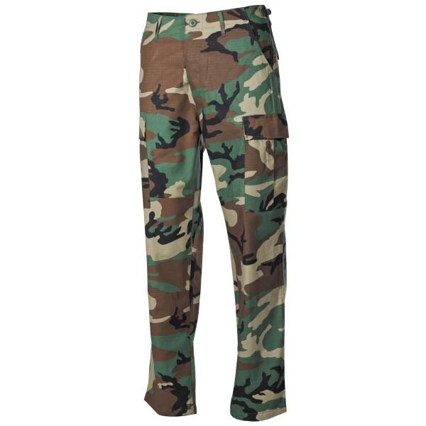 US Kampfhose, BDU, Rip Stop, Woodland Camoflage