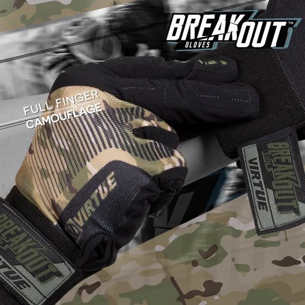 Virtue Breakout full finger gloves Ripstop Camo