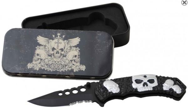 Kyu Line Einhandmesser - Totenkopf