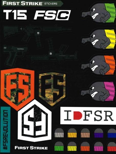 First Strike T15 / FSC Stickersheet Aufkleberbogen