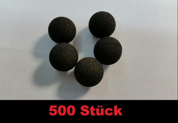 500 Rubberballs Reballs mit Stahl / Gummigemisch Cal 68