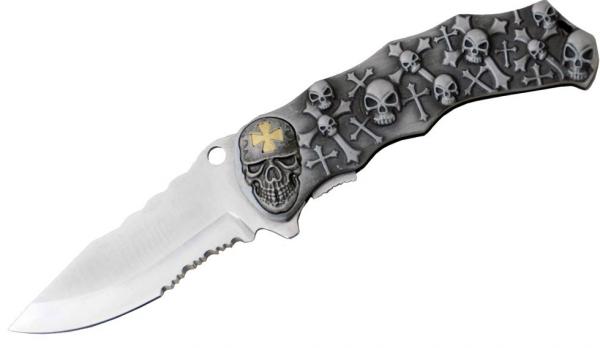 Kyu Line Taschenmesser - Totenkopf