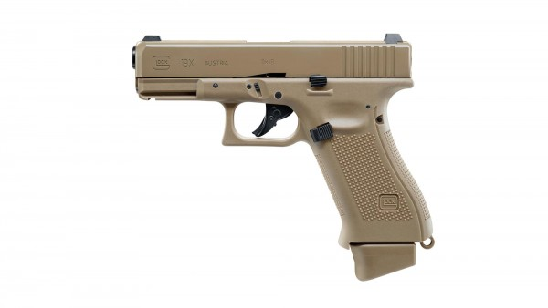 GLOCK 19X cal. 6 mm BB FDE TAN Co2 Blowback