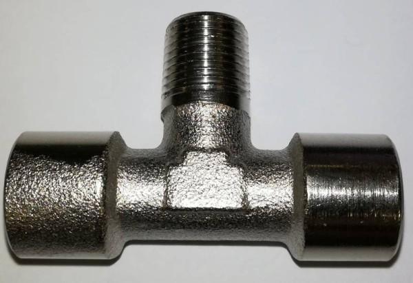 """PPD 1/8"""" T-Stück 3x weiblich Innengewinde Druckluftverbinder"""
