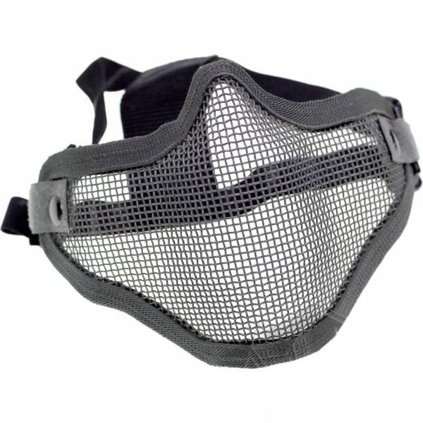 Gittermaske für Airsoft Schwarz