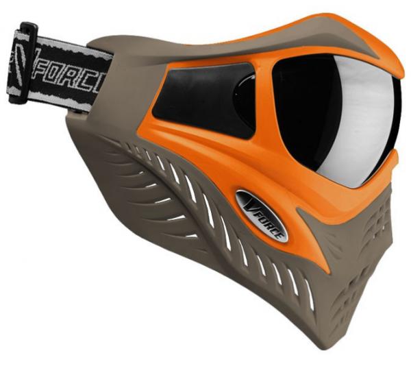 Paintball Maske V-Force Grill SC orange / braun Thermal