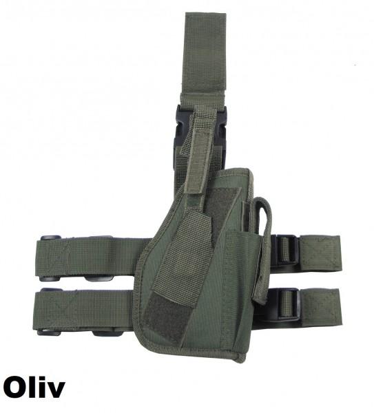 Pistolenbeinholster für rechten Oberschenkel