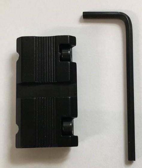 Mini Adapter von 11mm zu 22mm Prismenschiene zu Weaverschiene
