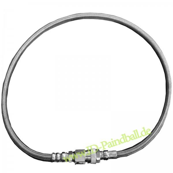 """Paintball Fill Hose (Füllschlauch) für HP Systeme Stahlflex 10"""""""