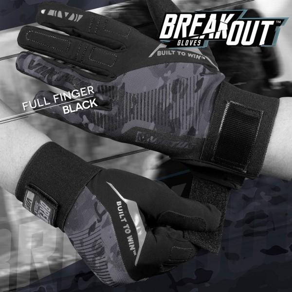 Virtue Breakout Vollfingerhandschuhe Ripstop Black Camo