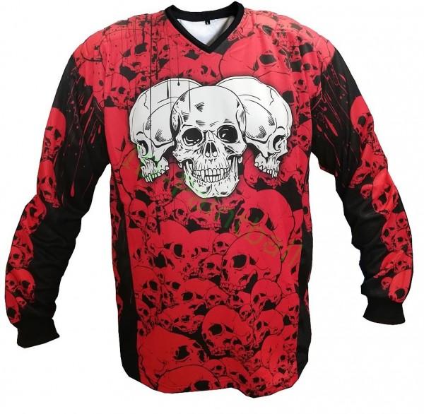 IDP Jersey The Skulls Rot Paintball Trikot