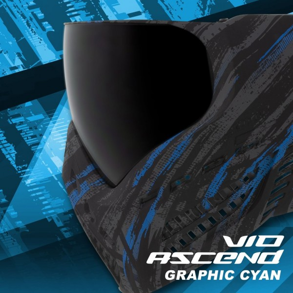 Paintball Maske Virtue VIO Ascend Thermal Graphic Cyan Blue