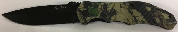 Kyu Line Einhandmesser KY212 Camo Schwarz