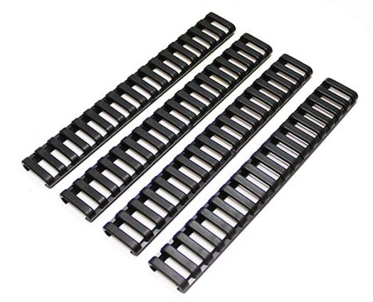 Ladder Rail Cover DELUXE (4 Stück) schwarz von SOLIDCORE