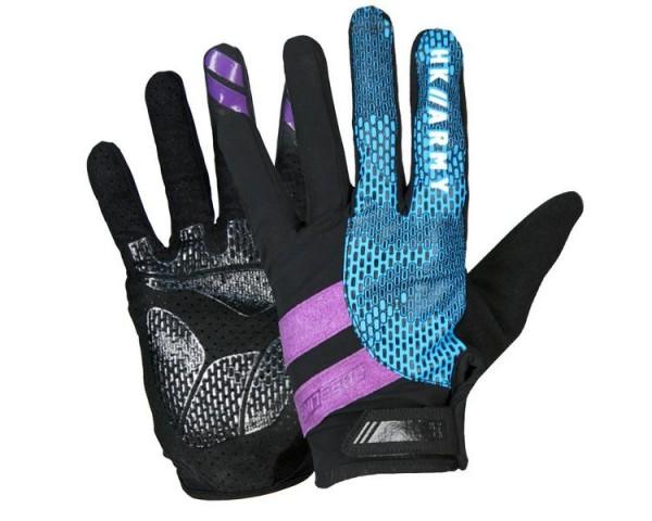Paintball Handschuhe HK Army Freeline Gloves Vollfinger AMP lila / türkis
