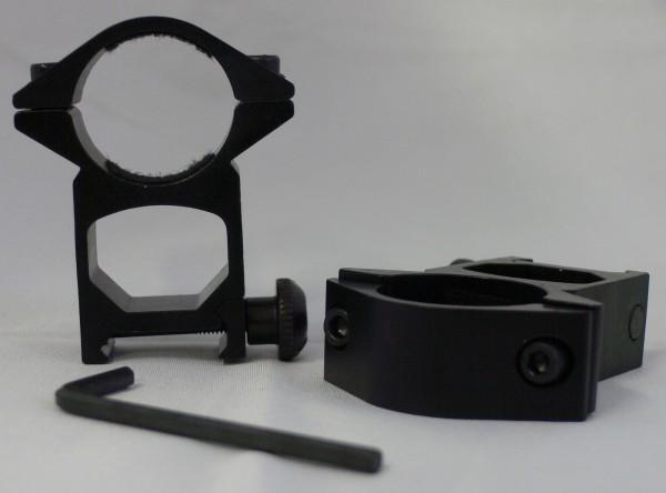 Montage Ringe D=25,4mm H=48mm für 20-22mm Schienen