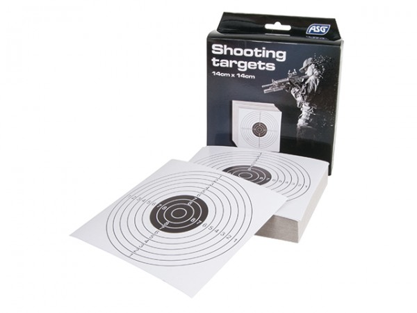 Papier-Zielscheiben 14 x 14 cm 100 Stück