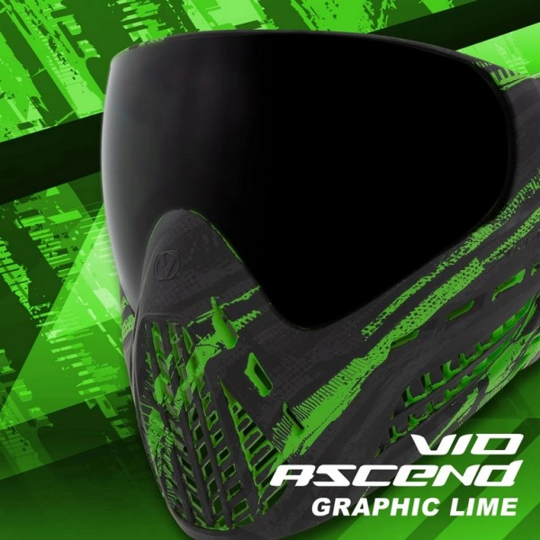 Paintball Mask Virtue VIO Ascend Thermal Graphic Lime