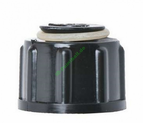 Ventilschutzkappe mit O-Ringaufnahme schwarz