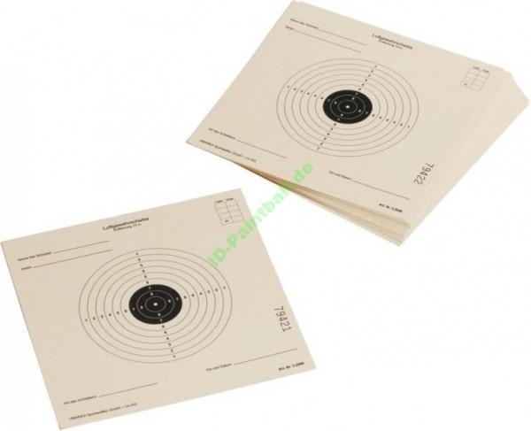 250 Zielscheiben 17 x 17 cm ISSF für Luftgewehr Softair etc