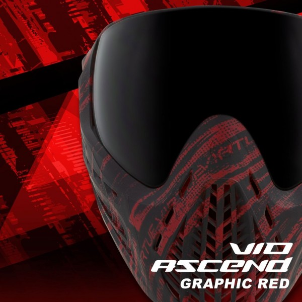 Paintball Mask Virtue VIO Ascend Thermal Graphic Red
