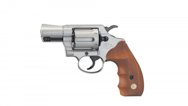 Colt Detective Special cal. 9 mm R.K. - Nickel / Holz
