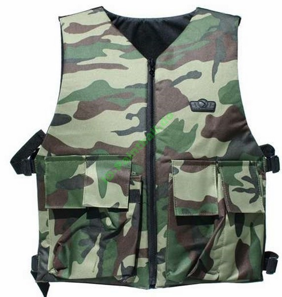 GXG Paintball Wendeweste woodland camo inkl. Battle Pack