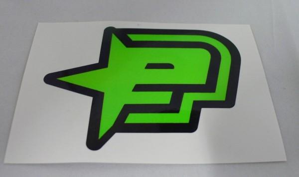 Planet Eclipse Sticker Aufkleber Grün 90x70