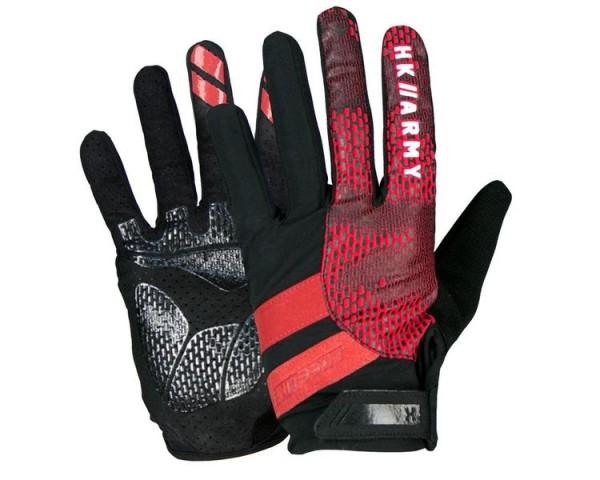 Paintball Handschuhe HK Army Freeline Gloves Vollfinger Fire rot