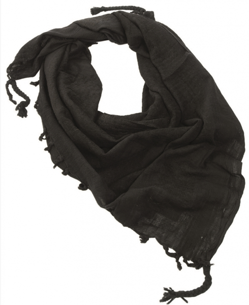Shemag PLO scarf, with fringes Black 110X110CM