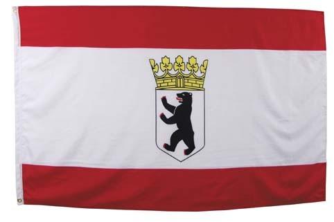 Fahne, Berlin, Polyester, Gr. 90x150 cm