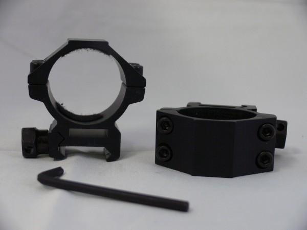 Montage Ringe D=30mm H=39mm für 20-22mm Schienen
