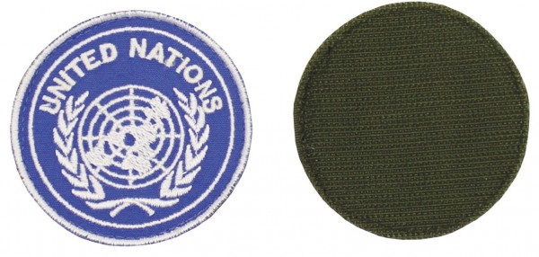"Klettabzeichen, blau, ""UNITED NATIONS"""