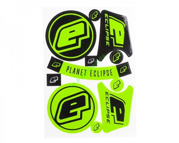 Eclipse A6 Aufkleberbogen, grün